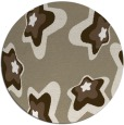 rug #680661 | round mid-brown natural rug