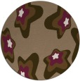 rug #680673 | round mid-brown graphic rug
