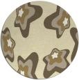 rug #680813 | round yellow popular rug
