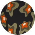 rug #680829 | round black graphic rug