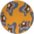 rug #680869 | round light-orange natural rug