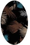 rug #681593 | oval brown rug