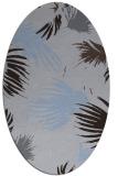 rug #681689 | oval blue-violet rug
