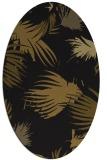 rug #681693 | oval black natural rug