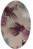 rug #681733 | oval pink natural rug