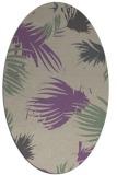 rug #681757   oval purple natural rug