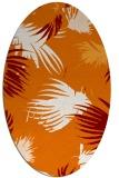 rug #681769 | oval orange rug