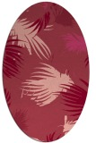 rug #681793 | oval pink rug