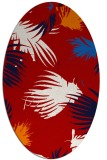rug #681817   oval red natural rug