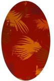 rug #681821   oval red natural rug