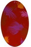 rug #681829 | oval pink natural rug