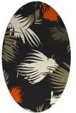 rug #681885   oval black natural rug