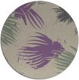 rug #682461 | round purple natural rug