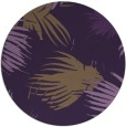 rug #682513 | round purple natural rug