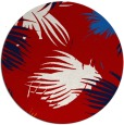 rug #682521 | round red natural rug