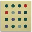 rug #684949 | square yellow circles rug