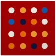 rug #684985 | square red circles rug