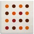 rug #685013 | square red-orange circles rug