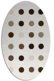 rug #685097 | oval white circles rug