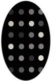 rug #685101 | oval white circles rug