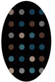rug #685113 | oval brown retro rug