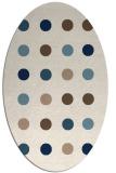 rug #685121 | oval white circles rug