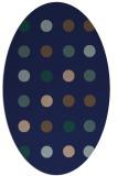 rug #685129 | oval blue-green circles rug