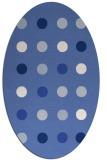 rug #685137 | oval blue retro rug