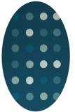 rug #685145 | oval blue-green circles rug
