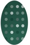 rug #685153 | oval blue-green circles rug