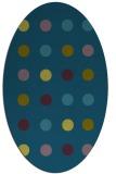 rug #685157 | oval green circles rug