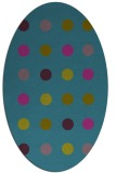 rug #685161 | oval pink retro rug