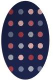 rug #685189 | oval blue-violet circles rug