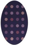 rug #685193 | oval blue-violet popular rug