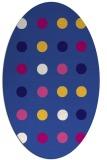 rug #685201 | oval blue-violet retro rug