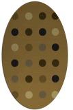 rug #685214 | oval retro rug