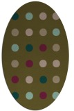 rug #685217 | oval brown circles rug