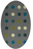 rug #685225 | oval green circles rug