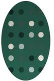 rug #685229 | oval green circles rug