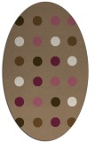 rug #685249   oval beige circles rug