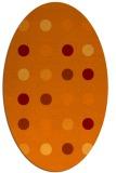 rug #685285 | oval orange circles rug