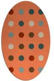 rug #685293 | oval orange rug