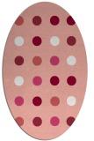 rug #685317 | oval pink circles rug