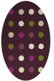 rug #685325 | oval purple circles rug