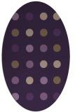 rug #685329 | oval purple retro rug