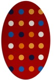 rug #685337   oval red retro rug