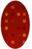 rug #685341 | oval red circles rug