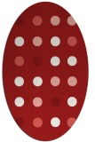 rug #685345   oval red circles rug