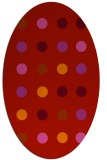 rug #685349   oval red circles rug