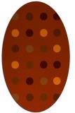 rug #685353 | oval red-orange circles rug
